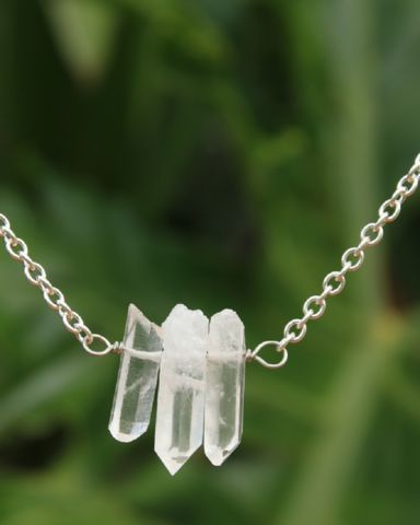 3 Quartz Point Necklace – Bohemian Tapestry