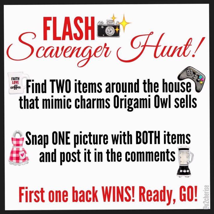 Scavenger Hunt Origami Owl game Cherise Imbert, Independent Designer  Memoriesanddreams.origamiowl.com