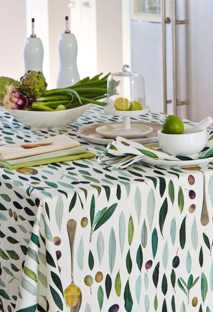 Tischdecke, Oliven von Apeklt, Artikel 3054