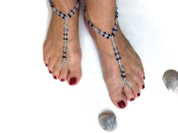 """I added """"Silver barefoot sandals with glass beads"""" to an #inlinkz linkup!https://www.etsy.com/listing/221662300/silver-barefoot-sandals-with-glass-beads?ref=shop_home_active_4"""
