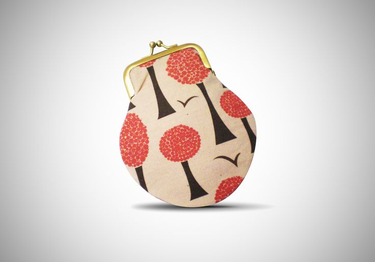 polka trees-burgundy_purse