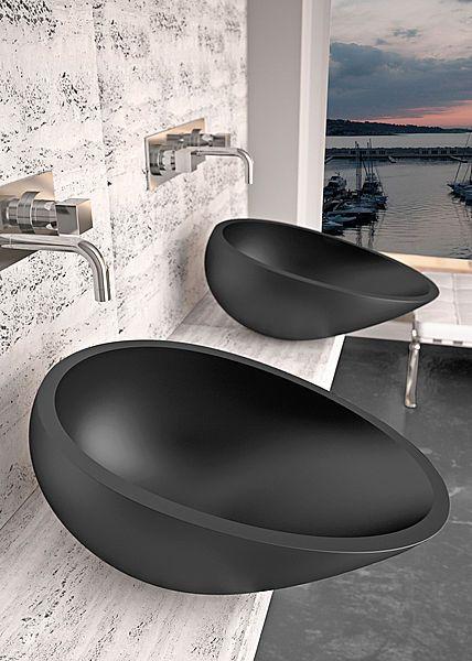 +: Interiors Design, Bathroom Faucets, Bathroom Idea, Matte Black, Bathroom Sinks, Bathroom Modern, Modern Homes, Bathroom Decoration, Design Bathroom
