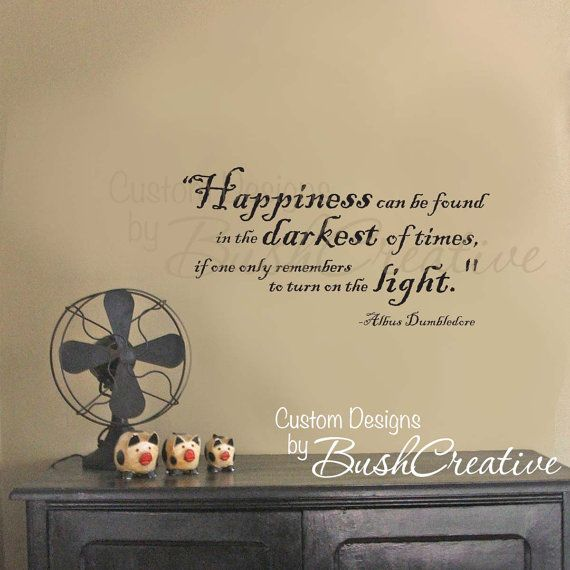 Harry Potter Wall Decal - Wall Stickers - Vinyl Decal Quote by Dumbledore 012-28 on Etsy, $25.00