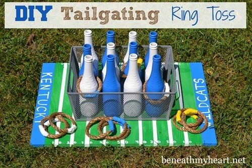 Entertain everyone with this ring toss game. | 39 Clever Tailgating DIYs To Get You In The Spirit