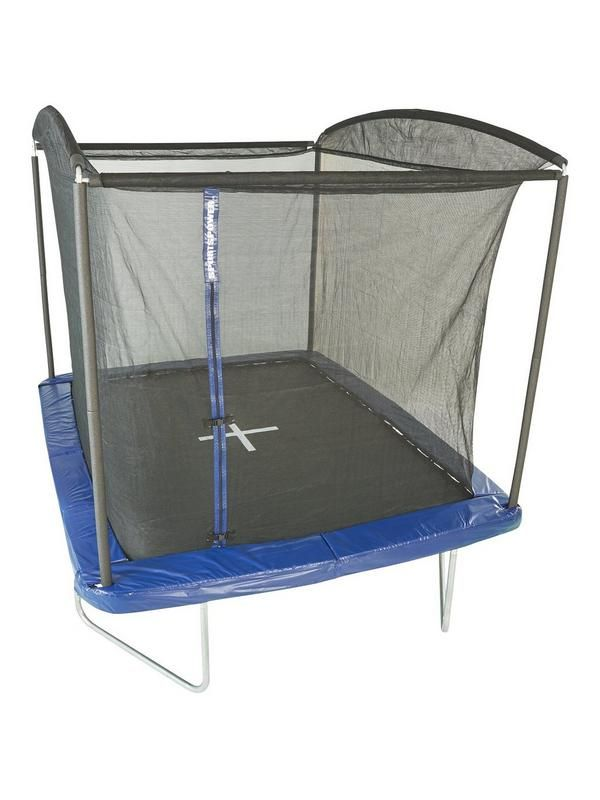 Get active outdoors on this Sport Power 10 x 8ft Rectangular Trampoline and enclosure With a galvanised premium steel frame offering rust-free protection and increased strength, this Sportspower trampoline is a must-have for your garden.The padded frame provides extra protection and safety too, while the durable jumping mat provides a smooth and consistent bouncing experience.Useful info:Recommended age6years +Only one user at a time. Maximum User weight100kgs  Adult assembly and Adult…