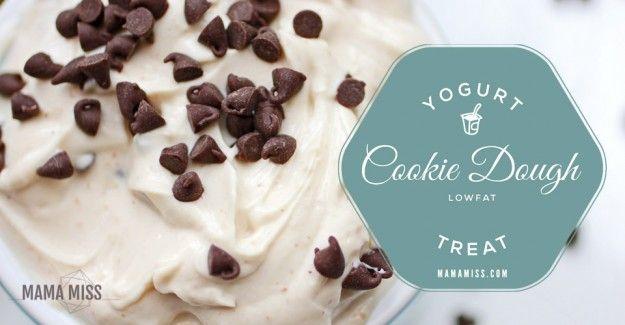 A yummy, healthier, cookie dough option to fill that cookie dough craving endlessly - a Cookie Dough Yogurt.