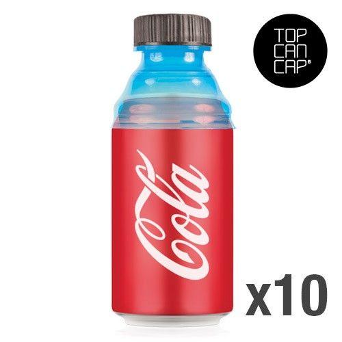 10 tapones para las latas de coca cola