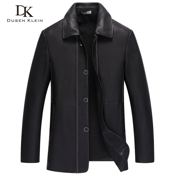 Deer leather Jacket Trench Genuine leather men coats Dusen Klein business casual clothing long the trench coat black 71F17612