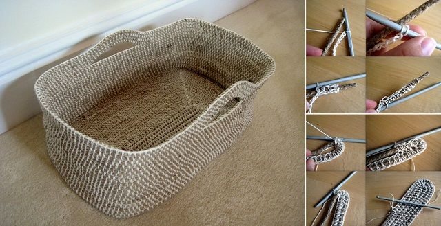 DIY Cute Crochet Rope Basket