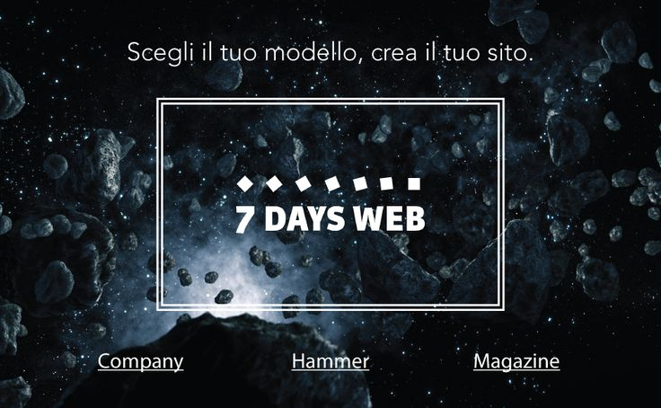 Let's go to the space in sevendays, websites, blog ,magazines, all you need for your web communication, check it!!