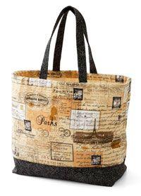 canvas tote bag @allpeoplequilt.com