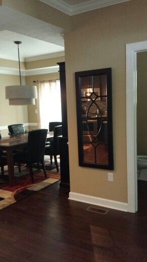 Mirror In The Entry Near Dining Room