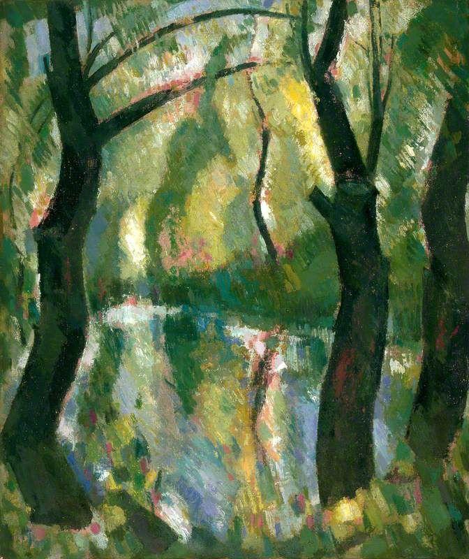 Dark Trees by the Kelvin  , by John Duncan Fergusson,1944