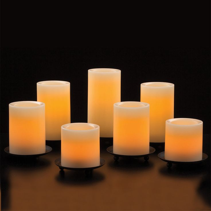 Flameless Candles With Remote Costco Best Amazon Variety Set Of 6 Cream Slim Wax Drip Flameless Candles