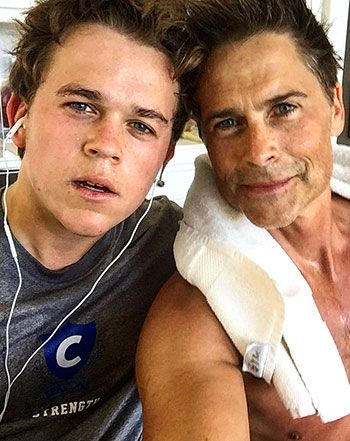 Rob Lowe Works Out With Really Hot Son John: Sweaty, Dreamy Photo! - Us Weekly