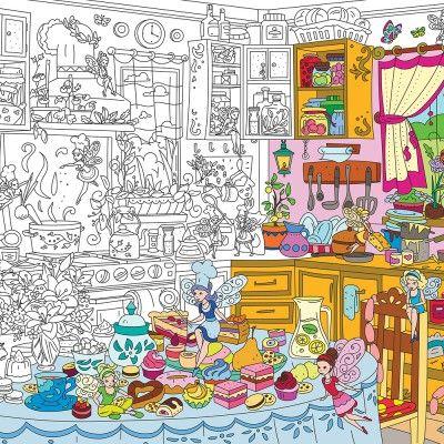 Кухонные феи. Раскраска XL