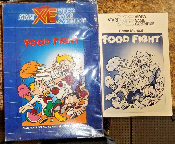 LOT OF 5 Atari XE computer BOXES & 3 MANUELS XL/XE FOOD FIGHT,STAR RAIDERS 2