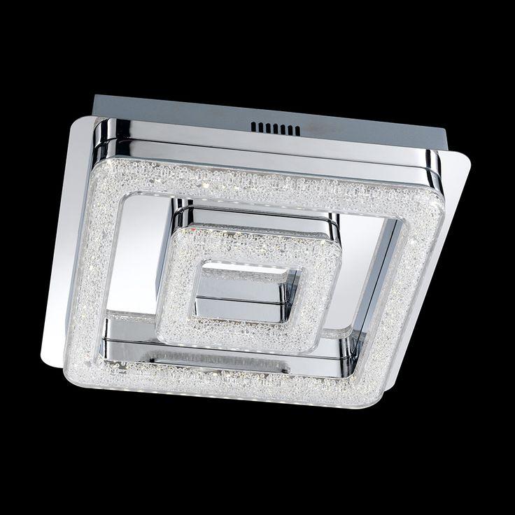 Exklusiv designte LED-Deckenleuchte mit vielen Acrylperlen und hellem Lichtspiel