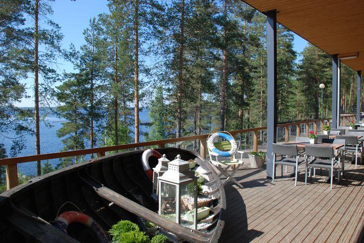 #Imatra, #Finland, Spa Hotel Imatran Kylpylä by Maija S. Summer terrace, by Lake Saimaa