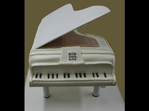 ▶Piano Cake - step by step Videotutorial - Tarta de piano. Piano fondant cake - YouTube