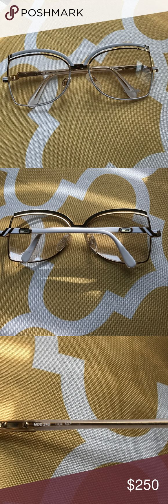 Cazal sunglasses Vintage one of a kind Cazal White and Gold sunglasses Cazal Accessories Sunglasses