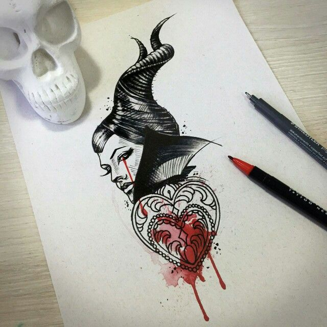 Maleficent tattoo idea #TattooIdeasDisney