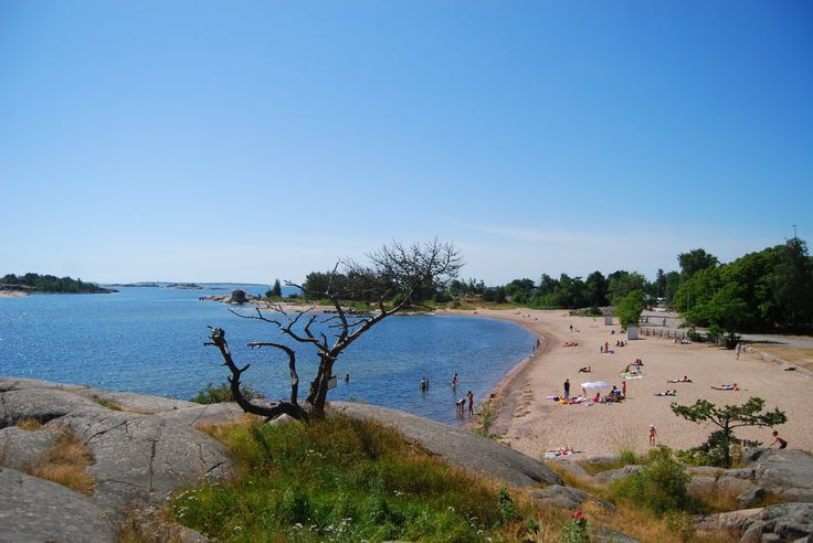 Windy Hanko Beach, Most southern point in Finland