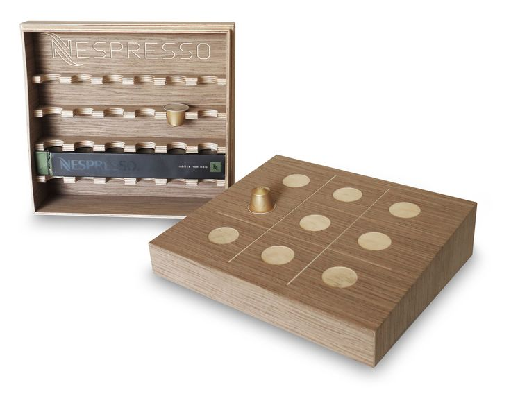 Nespresso Gift Box that becomes a table game