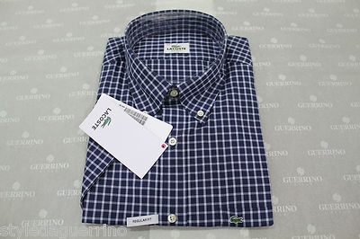 Lacoste by Guerrino Style UOMO*MAN  PREZZO / PRICE  55 €  http://www.ebay.it/itm/CAMICIA-LACOSTE-UOMO-MANICA-CORTA-SCACCHI-BLU-BIANCO-/130890875750?pt=Camicie_casual_uomo==item6425fbe1de