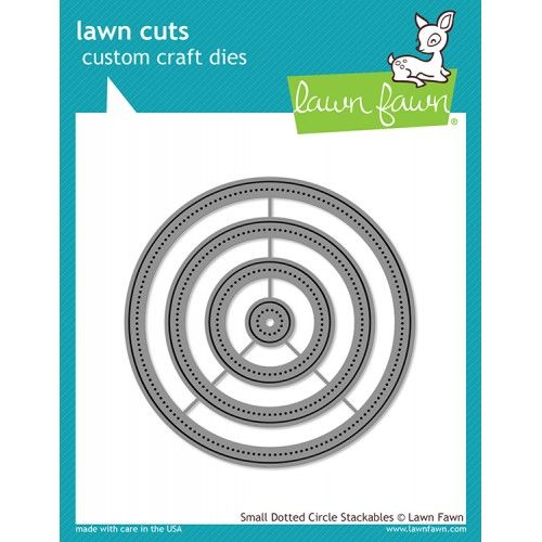 Wykrojniki - Small Dotted Circle Stackables - Lawn Fawn