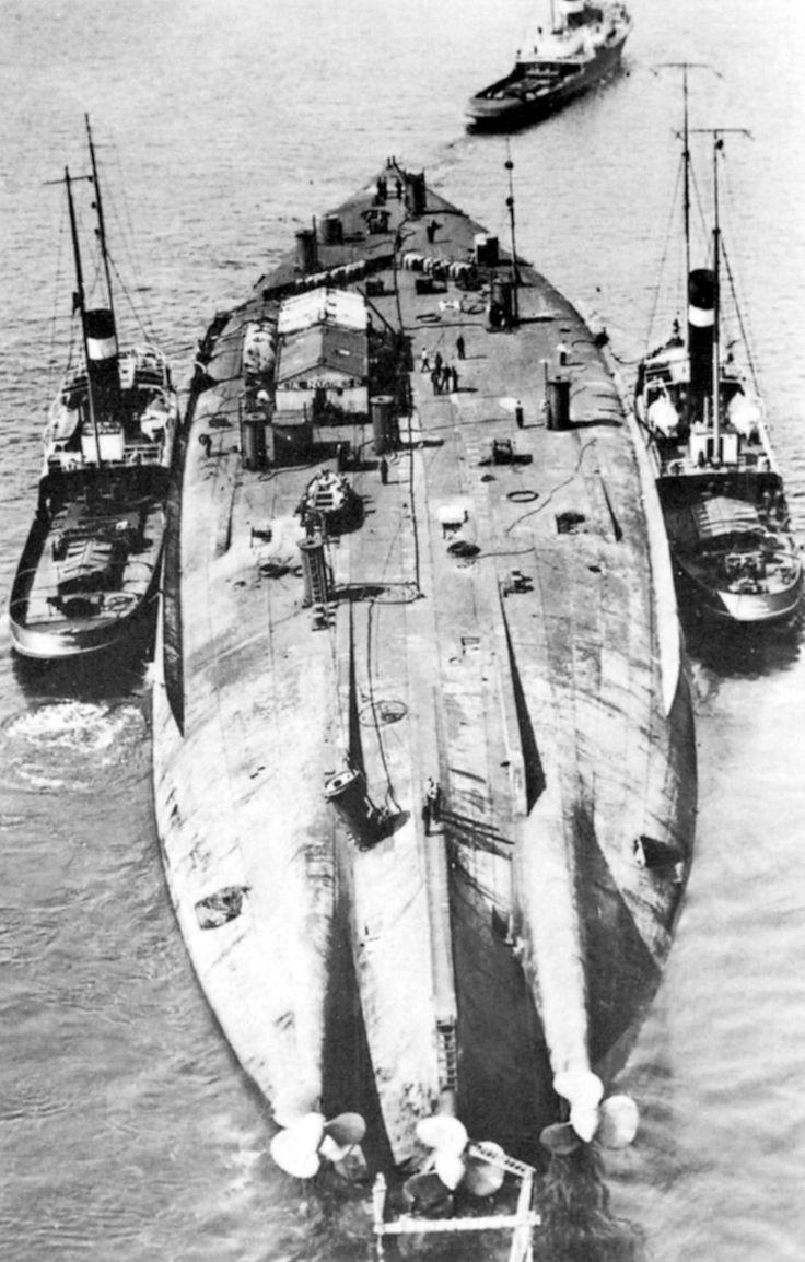 SMS Bayern being salvaged in 1934. Battleship