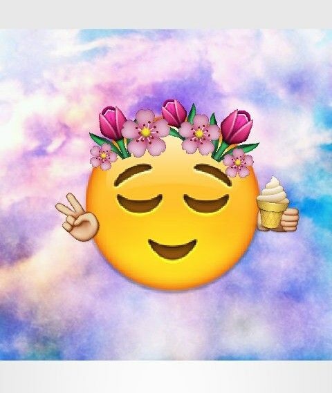 emoji, flowers, and tumblr image
