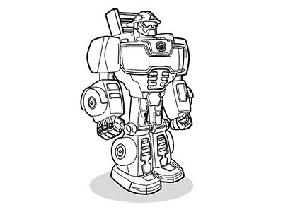 Coloring pages heatwave jayse 39 s b day for Transformers rescue bots coloring pages