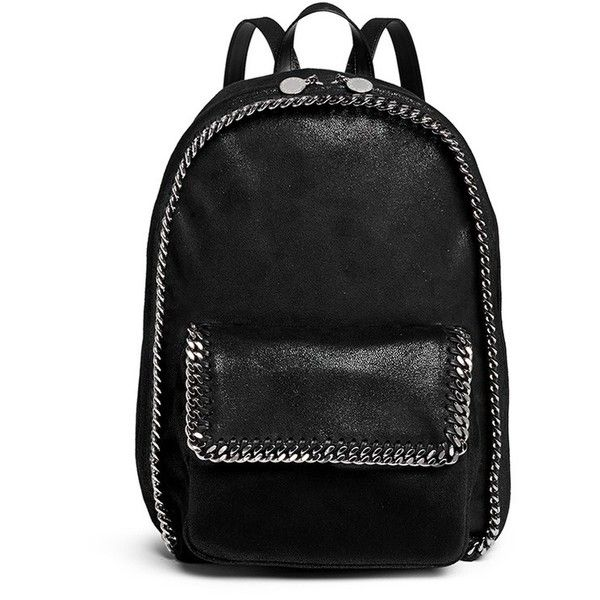 Stella Mccartney 'Falabella' faux shaggy deer chain backpack found on Polyvore