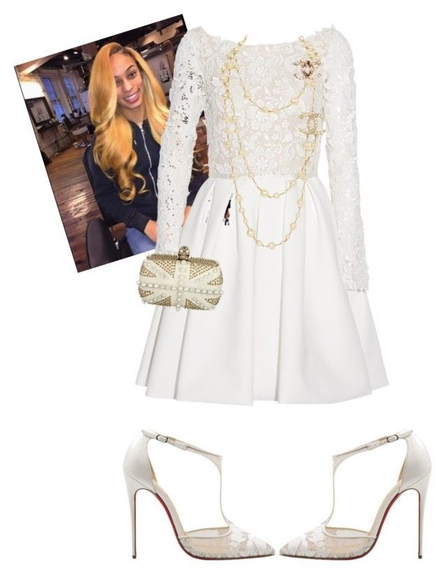 """""""Communion Sunday"""" by cogic-fashion on Polyvore featuring Rime Arodaky, Christian Louboutin and Alexander McQueen"""
