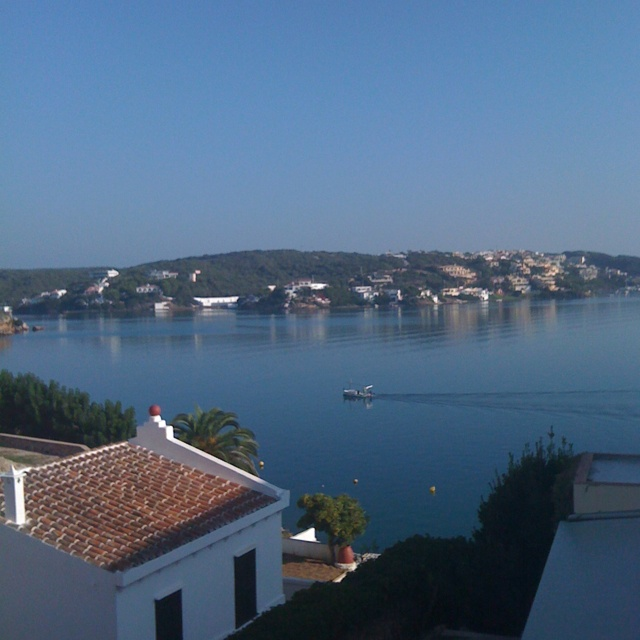 View across Mahon harbour from El Castell, Menorca