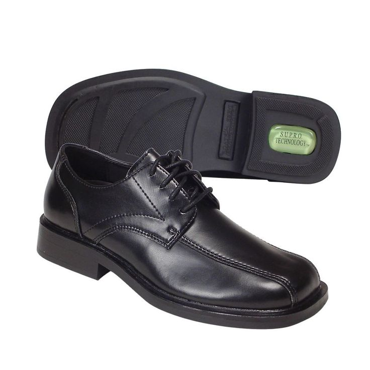 Deer Stags Gabe Boys' Dress Shoes, Size: 12.5, Black