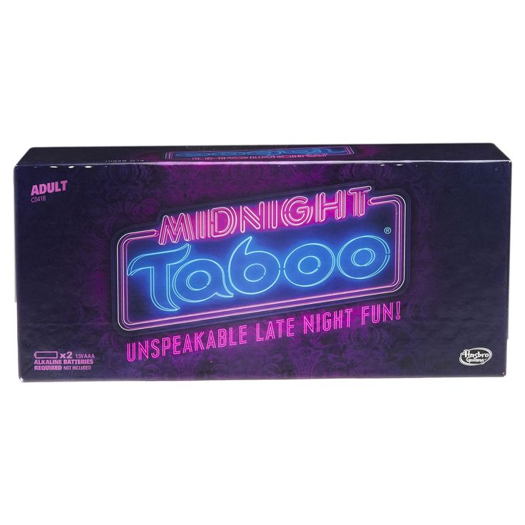 Experience unspeakable late night fun with the Midnight Taboo game, the adult-rated edition of the popular game of forbidden words. Get your team to guess the target word on the card, but you can't use any of the forbidden words in your clues, or your opponents will buzz the buzzer and you'll lose your turn. Be prepared for hilarious moments as you race against the clock to give your team the best descriptions and clues possible. The team with the most points at the end of the game wi...