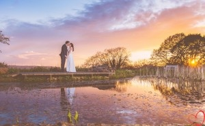 Sunset wedding pictures. Night photos. Country wedding theme.
