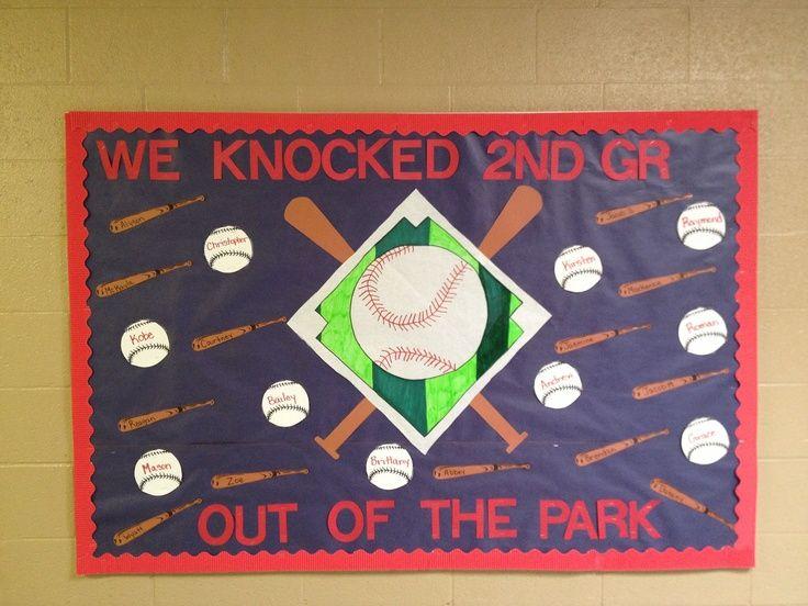 Stylish Design Bulliten Boardbaseball Inspiration: Top 12 Baseball Bulletin Board Ideas