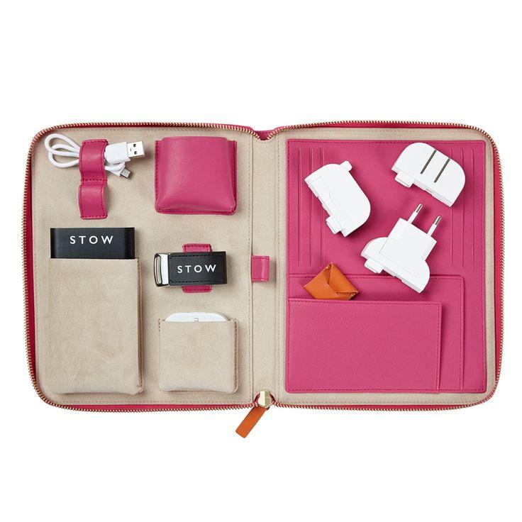 Ladies International First Class Travel Tech Case | Stow | Wolf & Badger