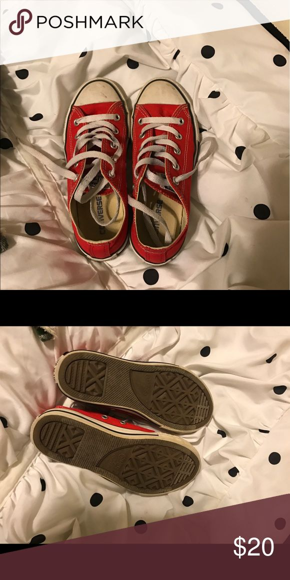 Kids red converse Kids red chucks! Converse Shoes Sneakers