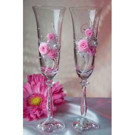 Svadobné poháre Rose