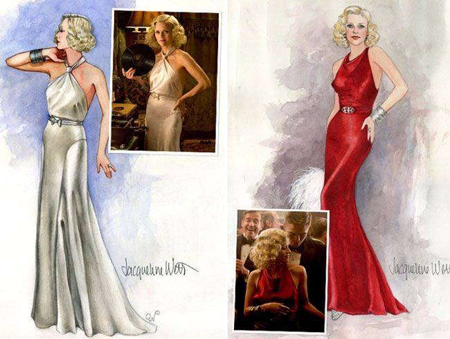 costume sketches here from Water for Elephants movie wardrobe designer Jacqueline West