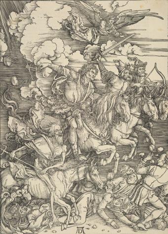Четыре апокалиптических всадника - Немецкая гравюра