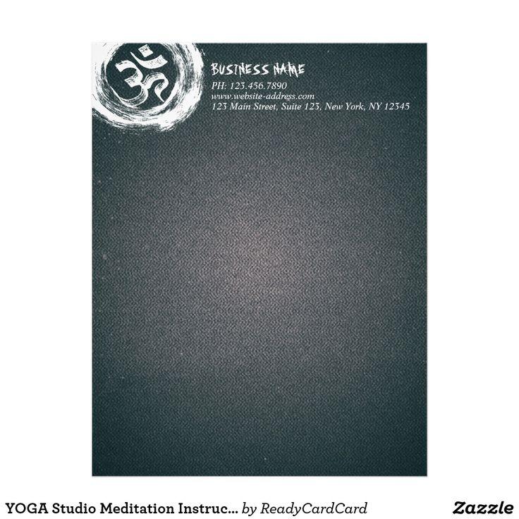 YOGA Studio Meditation Instructor OM & ZEN Symbols