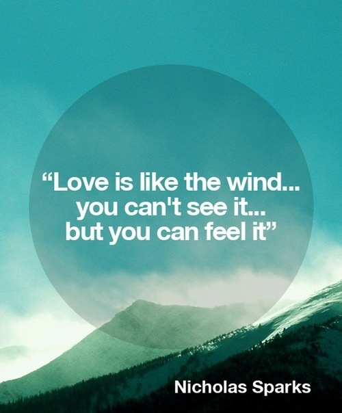 a walk to remember quotes love is like the wind - photo #18