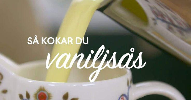 Om du en gång testat att göra egen vaniljsås kommer du aldrig köpa färdig igen. Spela klippet så visar Roy Fares hur han gör sin!