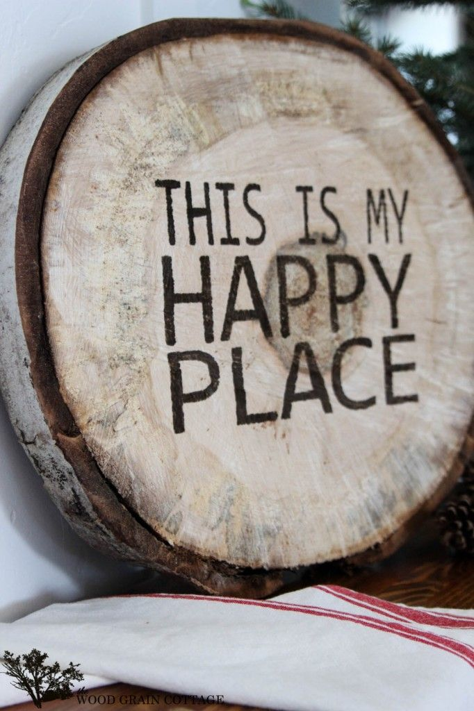 DIY Wood Slab Sign - We can pick a tree with the family and do this!