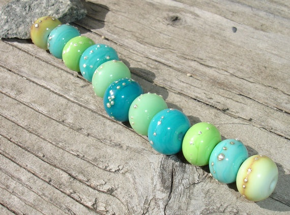 handmade lampwork beads cool ocean breeze fine by these totally make me